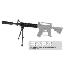 US Army Alpha Black Frostbite Barrel Kit - paintball barrel by Rap4