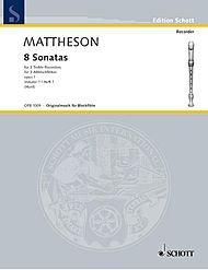Schott 8 Sonatas, Op. 1, Volume 1 (for 3 Treble Recorders) Schott Series by Johann Mattheson pdf epub