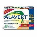 Alavert Tab Allergy Citrs Brst 60