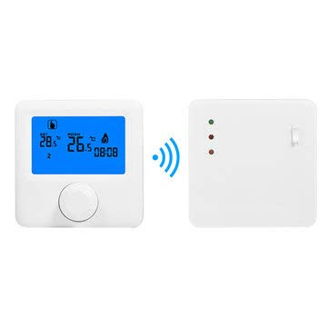 LCD Wireless Digital Thermostat RF Heating Programmable Thermostat Thermometer for Electric Heating System - Temperature Measurements Other Temperature Measuring Tools
