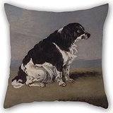 (Artistdecor Throw Cushion Covers Of Oil Painting Henry Bernard Chalon - The Duchess Of York's Spaniel,for Lounge,chair,divan,bench,car Seat,gril Friend 18 X 18 Inches / 45 By 45 Cm(twin Sides))