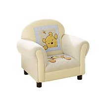 Kids line winnie the pooh soft fuzzy chair for Kids fluffy chair