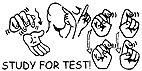 Sign Language Rubber Stamps (Study For Test! Stamp)