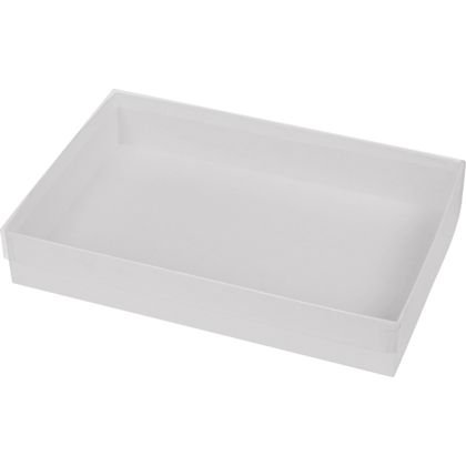 Clear Top Gift Box (Clear Gift Boxes - Clear Top Boxes w/ White Base, 9 5/8 x 6 3/8 x 1 5/8