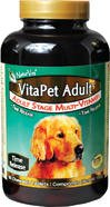 NaturVet VitaPet Adult Stage Multi-Vitamin for Dogs — 60 Chewable Tablets, My Pet Supplies