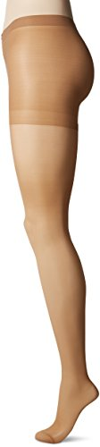 L'eggs Women's Sheer Energy 2 Pair Control Top Reinforced Toe Medium Support Panty Hose, Suntan, Q