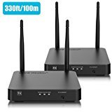 HDMI Wireless Extender, Nextrend Newest Wireless HDMI Transmitter and Receiver Kit Supporting HD 1080P 3D Video&Digital Audio from Pc, Netflix, Ps4 to 1080P TV Projector with IR, Pro Version 330FT