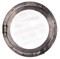 Lounge Porthole Mirror Decorative Accent, (Bronze Lounge Porthole Mirror)