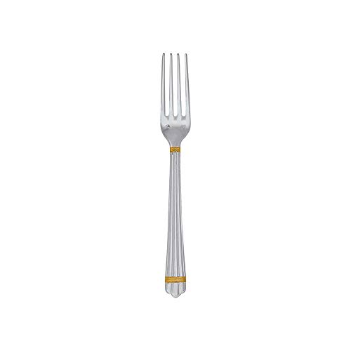 (Christofle Silver Plated Aria Gold Dessert Fork 1022-015)