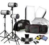 Strobe Studio Flash Light Kit 900W - Photographic Lighting - Strobes, Barn Doors, Light Stands, Triggers, Umbrellas, Soft Box by Neewer