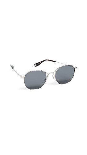 Givenchy Women's Round Metal Frame Sunglasses, Palladium/Grey Blue, One - Givenchy Frames