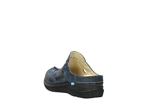 Donna Wolky 19800 205 Nubuckleder Zoccoli Blau 066016 88xBrvwqt