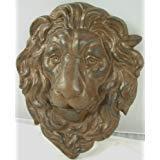 Plaque Large Hanging (Cast Iron Lion Head Hanging Garden Plaque)