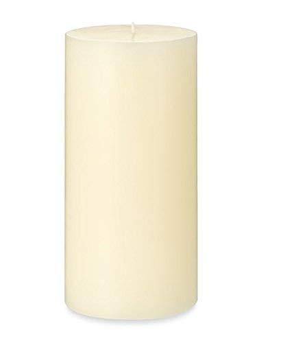 (MIster Candle - 4 inch by 8 inch Vanilla Scented Ivory Pillar Candle, Handmade in USA (4