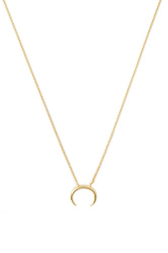 HONEYCAT Tiny Crescent Horn Necklace in 24k Gold Plate | Minimalist, Delicate Jewelry (Gold)