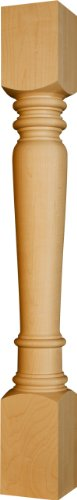 Husky Kitchen Island Leg in Knotty Pine - Dimensions: 34 1/2 x 4 inches -