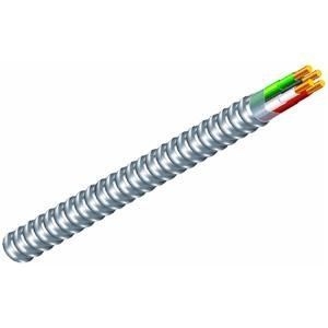 Southwire 68583423 12/3 Type 100-Feet 12-Gauge 3 Conductors MC Solid Metal Clad Cable with Aluminum Armor and Green Insulated Ground Wire