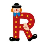 Sevi 81074 - Clown Buchstabe R Trudi Kinderzimmerdekoration