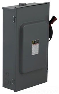 SCHNEIDER ELECTRIC Switch Fusible Hd 600-Volt 30-Amp 3P Neutral H361NRB 600V 30A by Schneider Electric (Image #1)