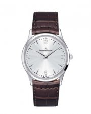 Jaeger Le Coultre Master Ultra Thin Steel Silver Dial Alligator Brown ()