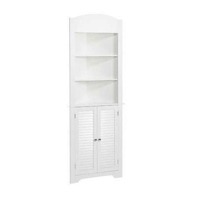 ... Free Standing Linen Tower  With Contemporary Style That Blends Well  With Most Bathroom Decors  Has Two Open Shelves And A Closed Cabinet  White  Finish*: ...