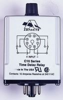 Amperite 120AP.1-60C Relay; SSR; Timing; On Delay; DPDT-NO/NC; Cur-Rtg 10A; Ctrl-V 120AC; Vol-Rtg 240AC