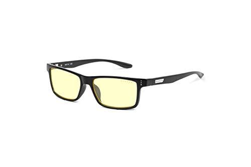 (GUNNAR Youth Gaming and Computer Eyewear /Cruz, Onyx Frame, Amber Tint - Patented Lens, Reduce Digital Eye Strain, Block 65% of Harmful Blue Light)
