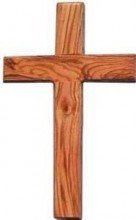 Wall Cross-Olive Wood-Plain-8 Inches. Grade A