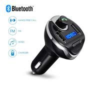 Bluetooth FM Transmitter, Jelly Comb Wireless In-Car FM Transmitter Radio Adapter Car Kit, Universal Car Charger with Dual USB Charging Ports, Hands Free Calling for iPhone, Samsung, etc (Black) by Jelly Comb