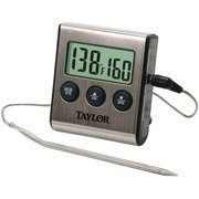 Taylor Digital Cooking Thermometer with Probe Plus Timer, 1487