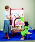 Childcraft I-1017 Mobile Teaching Easel, 26'' Diameter, 4'' Height, 36'' Width, 54'' Length, Metal