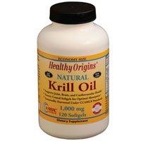 Krill Oil, 1000 mg, 120 Softgels by Healthy Origins (Pack of 3) by Healthy Origins