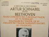 Artur Schnabel Beethoven Piano Concerto No.5, Polonaise in C op 89, Andante in F op 170 (Arabesque)