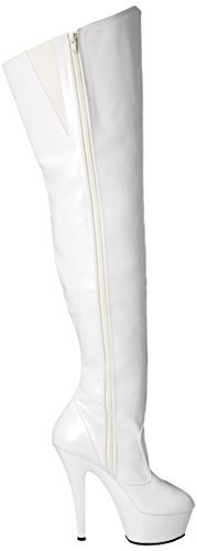6 38 5 Bianco Donna Pleaser Stivali Uk stiletto 4wR8nYI