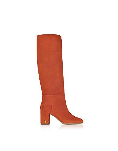 Naranja Cuero Mujer Botas 49136217 Burch Tory qA1H4tn61