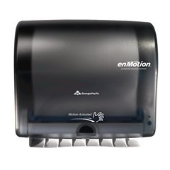 Georgia Paper Towel Holder - Georgia Pacific Enmotion 59488 Impulse 10 Automated Touchless Paper Towel Dispenser, Translucent Smoke