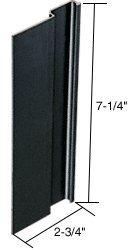C.R. LAURENCE C1009 CRL Black Blank Outside Flush Pull