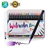 CHERRY BLOSSOM Watercolor pen set 20 color water pen painting brush watercolor pen, water color ink Soft elastic pen tip adult coloring book, manga, calligraphy Color1