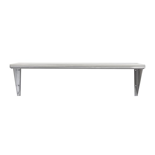 (Seville Classics Solid Stainless Steel Commercial Floating Wall Mount Shelf, 36