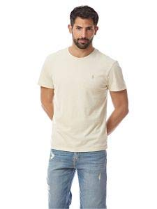 (Polo Ralph Lauren Men's Classic Fit Crew-Neck T-Shirt Cotton (X-Large, Chalk)