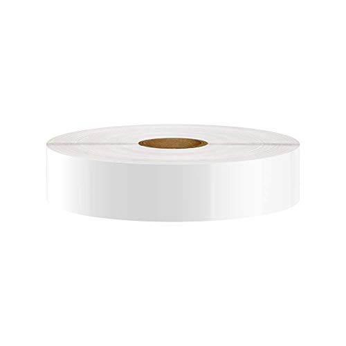 Premium Vinyl Label Tape for DuraLabel, LabelTac, VnM, SafetyPro and Others, White, 1