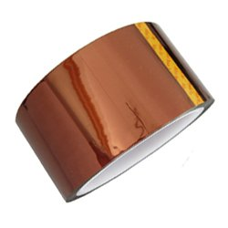 Bplus Kapton Tape : Width 50mm (2inch) , Length 33m , Thickness 0.06mm - for Electronic Work