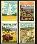 National Park Yellowstone Pillow Panel