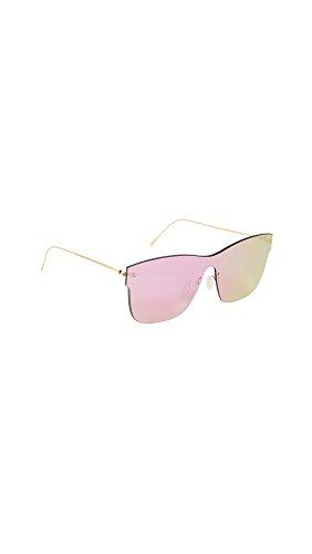 Illesteva Women's Newbury Sunglasses, Pink/Pink, One - Illesteva Sunglasses