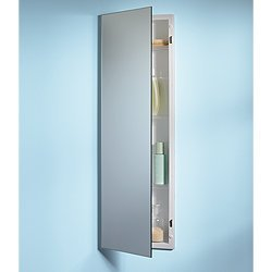Jensen 735M34WHG Pillar Medicine Cabinet With Polished Mirror, 12 Inch By  36 Inch Part 81