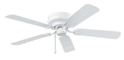 NuTone CFH52WH Hugger Series Energy Star Qualified Dual Blades Ceiling Fan, 52-Inch, White