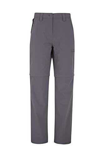Mountain Warehouse Trek Womens Convertible Trousers - Spring Pants Charcoal 8