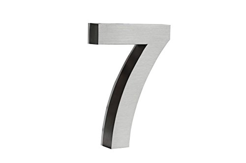 Backlit LED House Numbers (8 Inch White) Big, Modern Address Signs for Homes | Soft, Exterior Glow | Brushed Stainless-Steel Finish | Weather Resistant, Durable, Wired | by JELSCO ()