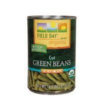 Field Day Beans, Og, Green, Cut, 14.50-Ounce (Pack of 12)