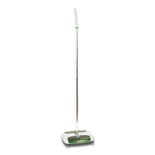 Sweeps up large and small debris from all floor surfaces. - 3M/COMMERCIAL TAPE DIV. * Scotch Brite Quick Floor Sweeper, Rubber Bristles, 42'' Aluminum